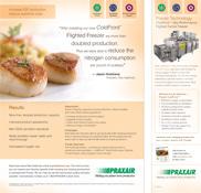Scallop studio shot - IQF scallops in immersion