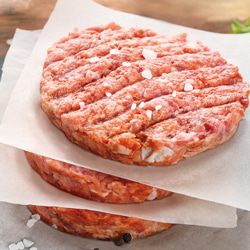 Frozen meat patties for grilling