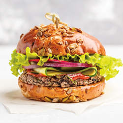imitation burger from plant based materials