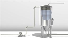 Sanitary inline oxygen stripping system